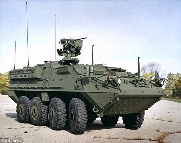 Xe thiết giáp Mỹ sắp có vũ khí laser bắn rụng UAV - 1
