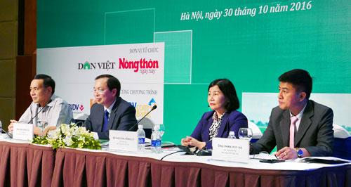 Hội thảo Tín dụng NH thúc đẩy tái cơ cấu ngành NN: Gỡ khó vay vốn - 1