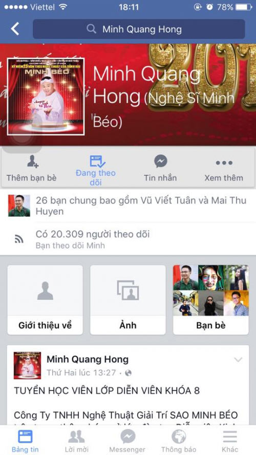 Minh Béo mở Facebook và sắp về Việt Nam? - 1
