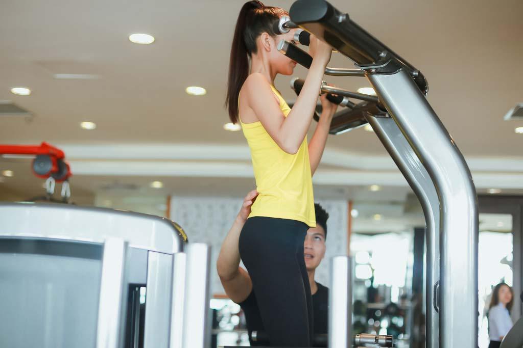 Ngắm Quán quân Next Top Ngọc Châu gợi cảm tập gym - 14