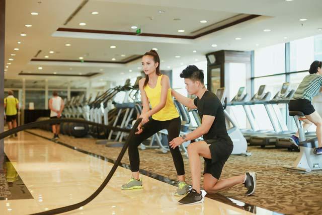 Ngắm Quán quân Next Top Ngọc Châu gợi cảm tập gym - 13