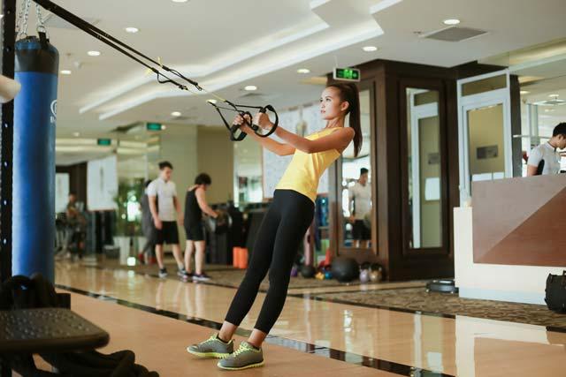 Ngắm Quán quân Next Top Ngọc Châu gợi cảm tập gym - 12