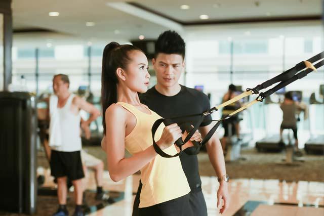 Ngắm Quán quân Next Top Ngọc Châu gợi cảm tập gym - 11