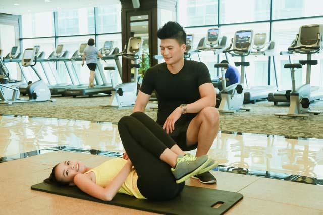 Ngắm Quán quân Next Top Ngọc Châu gợi cảm tập gym - 18