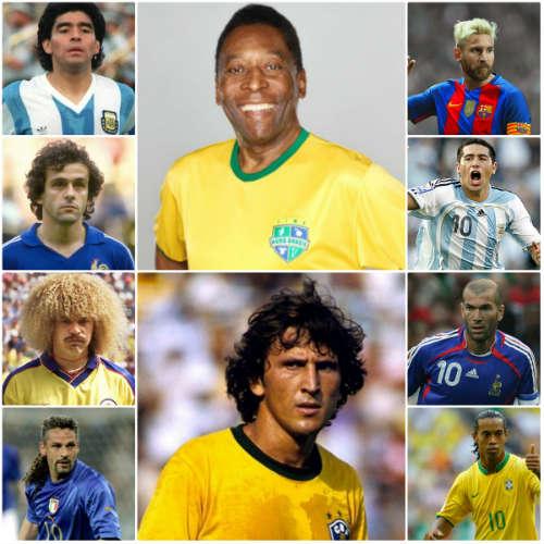 """Top """"số 10"""" vĩ đại nhất: Pele số 1, Messi xếp cuối - 1"""