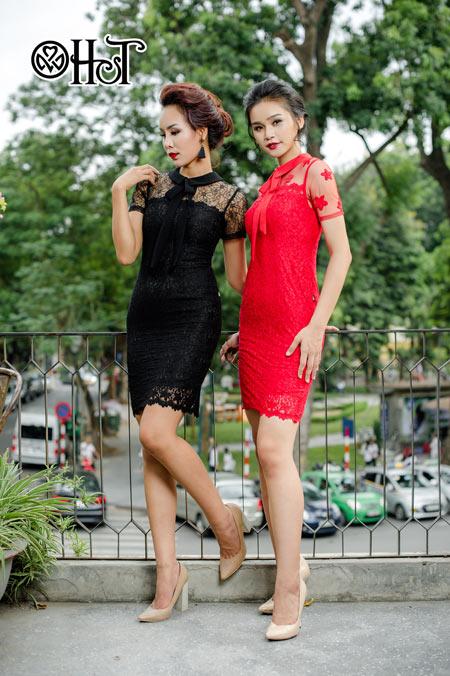 Váy ren ngọt ngào cho ngày thu nắng - 7