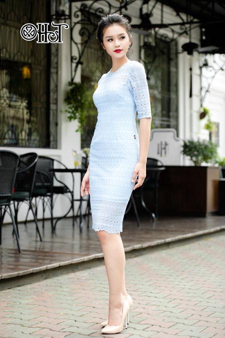 Váy ren ngọt ngào cho ngày thu nắng - 2