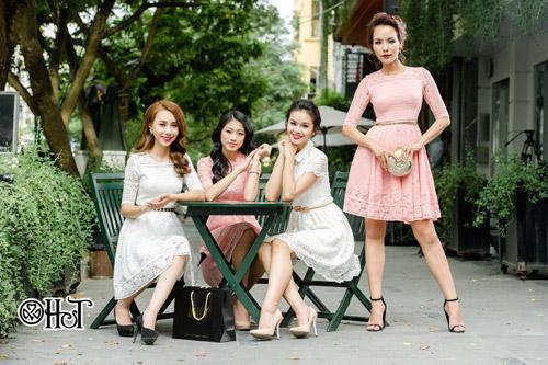 Váy ren ngọt ngào cho ngày thu nắng - 12