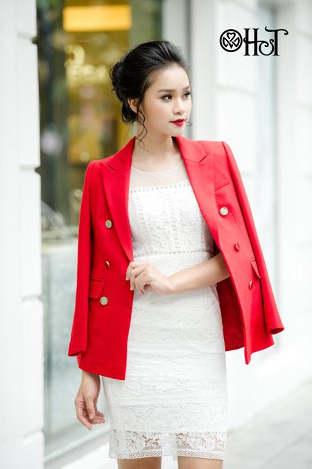 Váy ren ngọt ngào cho ngày thu nắng - 4