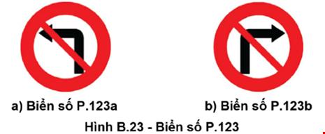 Từ 1-11: Thay đổi biển giao thông cấm rẽ, quay đầu xe - 1