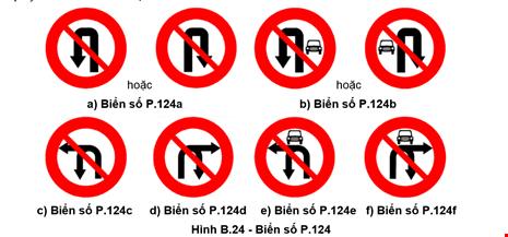 Từ 1-11: Thay đổi biển giao thông cấm rẽ, quay đầu xe - 2