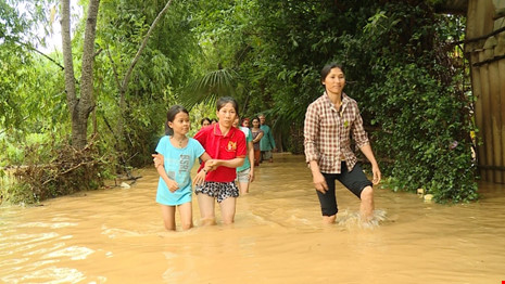 Lũ trên sông Gianh đang nhấn chìm hàng ngàn ngôi nhà - 4