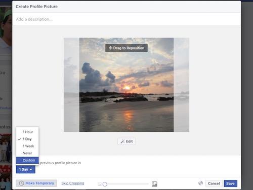 Cách làm ảnh đại diện hẹn giờ trên Facebook - 1