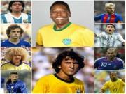 """Bóng đá - Top """"số 10"""" vĩ đại nhất: Pele số 1, Messi xếp cuối"""