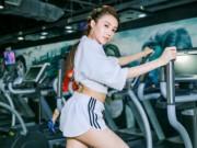 Làm đẹp - Chân dài  Lê Hà The Face lộ ảnh tập gym căng nuột