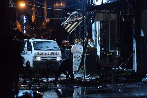HN: Cháy dữ dội ở quán karaoke trên đường Trần Thái Tông - 22