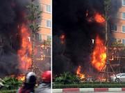 Video An ninh - Clip: Cháy dữ dội quán karaoke trên đường Trần Thái Tông