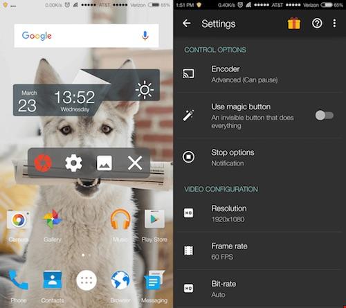3 ứng dụng quay màn hình trên Android - 1