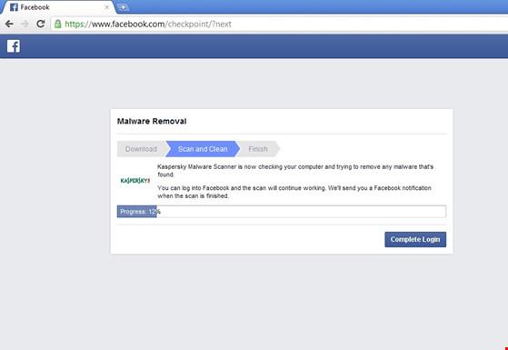 Quét mã độc cho tài khoản Facebook - 3