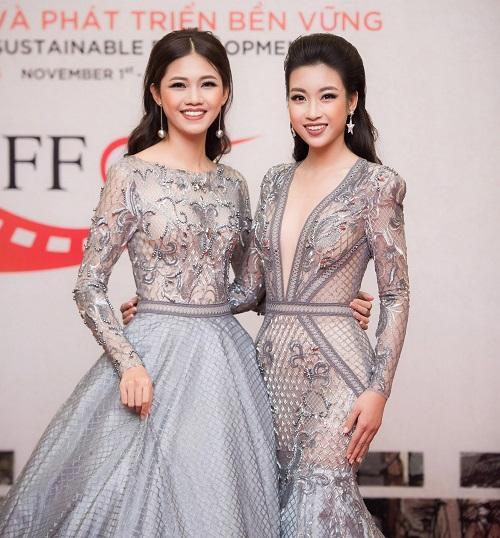 Hoa hậu Mỹ Linh khoe vòng một táo bạo trên thảm đỏ - 2