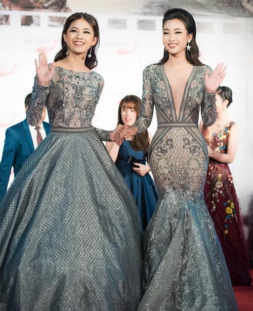 Hoa hậu Mỹ Linh khoe vòng một táo bạo trên thảm đỏ - 3