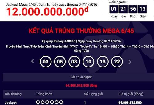 Thêm một người trúng xổ số gần 65 tỉ đồng - 1