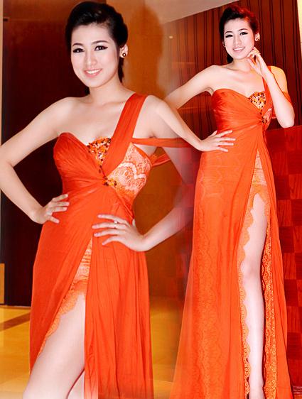 Á Hậu Tú Anh diện váy ngắn, khoe chân dài cán mốc 1m05 - 7
