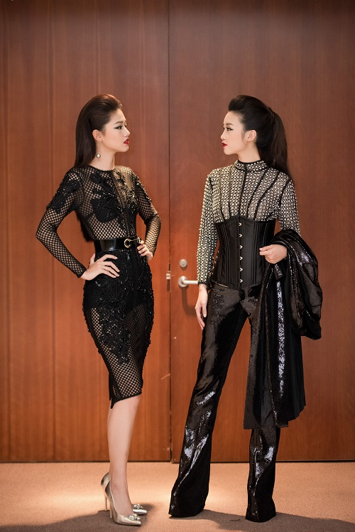 Hoa hậu Mỹ Linh, Á hậu Thanh Tú gây sốc vì quá lạ - 2