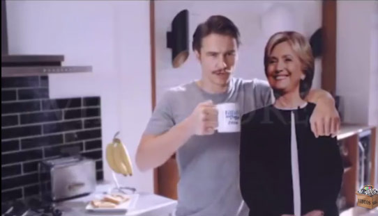 """Sao Người nhện """"khỏa thân"""" để ủng hộ Hillary Clinton - 3"""