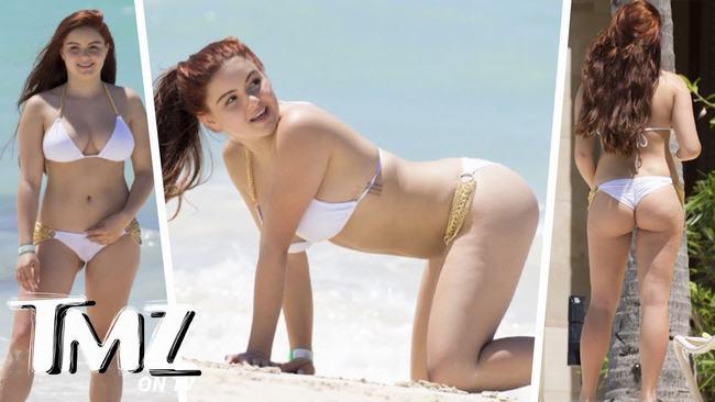 Ariel thường diện những bộ đồ khoét cổ sâu để lộ ra vòng 1 có kích thước khủng không kém thân hình đồ sộ của cô là bao.