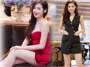 Thời trang - Á Hậu Tú Anh diện váy ngắn, khoe chân dài cán mốc 1m05
