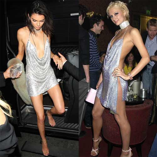 Kendall Jenner khoe ngực mini vẫn sexy với váy trễ nải - 1