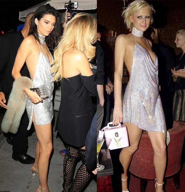 Kendall Jenner khoe ngực mini vẫn sexy với váy trễ nải - 4