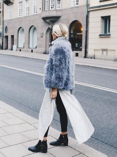5 cách mặc áo khoác lông sexy hơn ngày chớm đông - 7