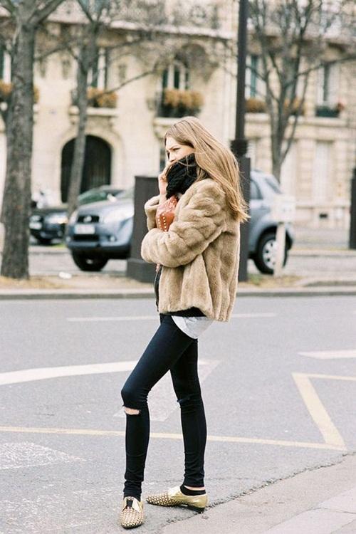 5 cách mặc áo khoác lông sexy hơn ngày chớm đông - 5