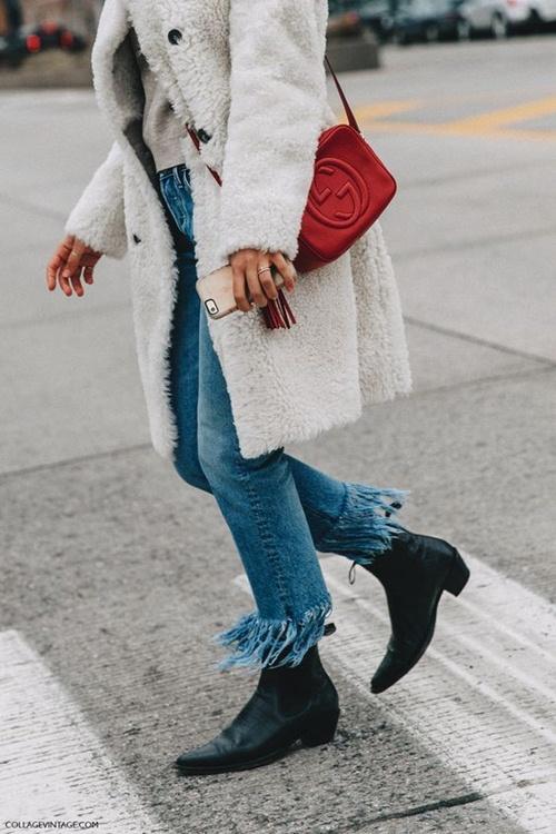5 cách mặc áo khoác lông sexy hơn ngày chớm đông - 13