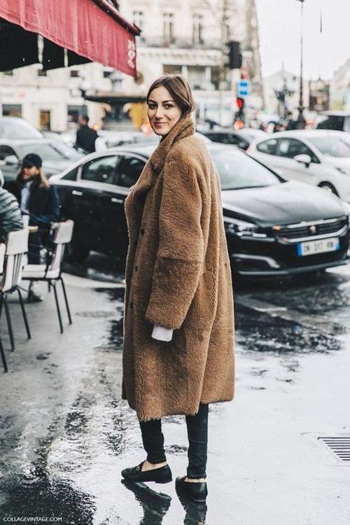 5 cách mặc áo khoác lông sexy hơn ngày chớm đông - 10