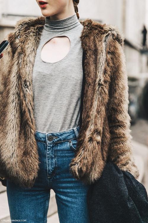 5 cách mặc áo khoác lông sexy hơn ngày chớm đông - 12
