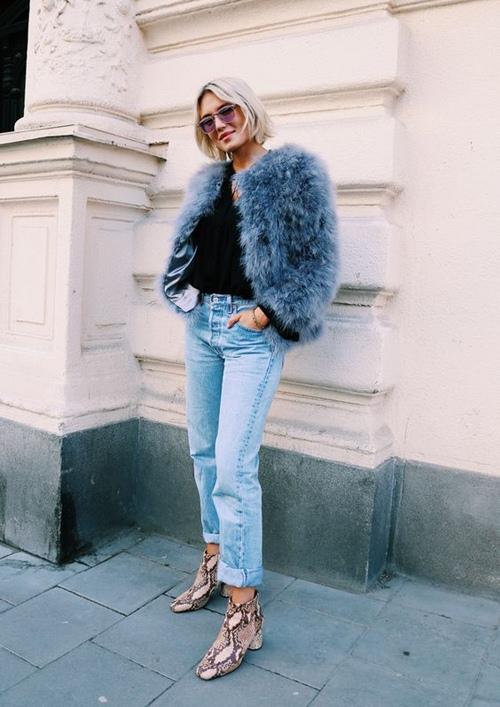 5 cách mặc áo khoác lông sexy hơn ngày chớm đông - 9