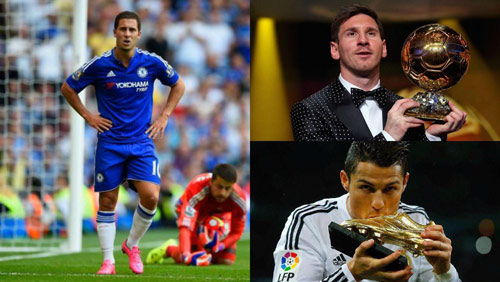 Chelsea: HLV Conte lấy Messi & Ronaldo khích Hazard - 2