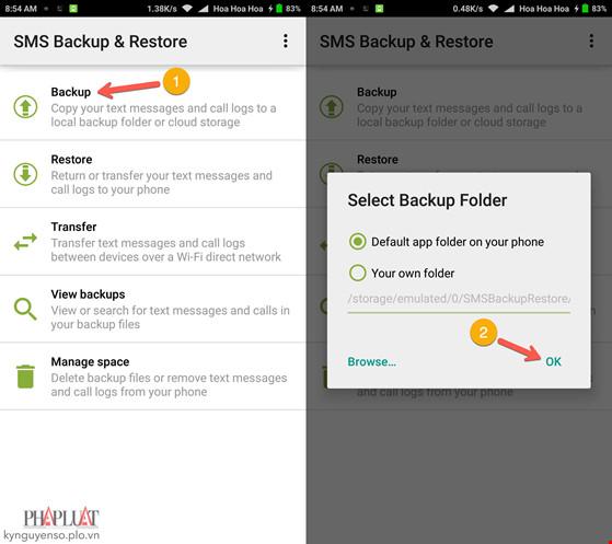 Cách sao lưu và phục hồi tin nhắn trên Android - 1
