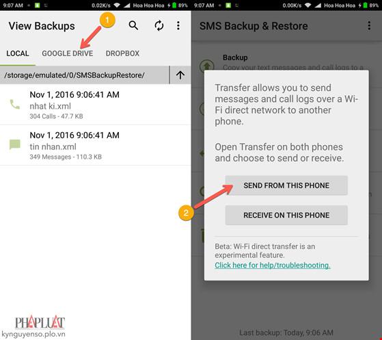 Cách sao lưu và phục hồi tin nhắn trên Android - 3