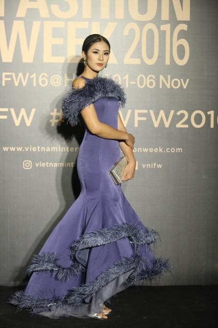 Dàn hoa, á hậu kiêu sa trên thảm đỏ Vietnam International Fashion Week - 10