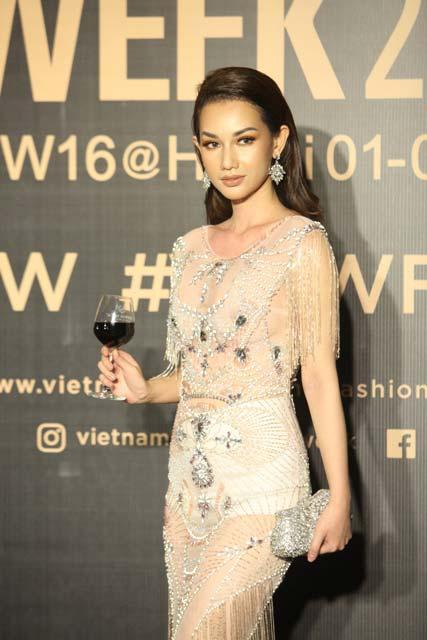 Dàn hoa, á hậu kiêu sa trên thảm đỏ Vietnam International Fashion Week - 11