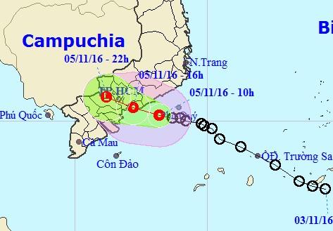 Áp thấp nhiệt đới ảnh hưởng trực tiếp tới TP.HCM - 1
