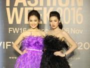 Thời trang - Dàn hoa, á hậu kiêu sa trên thảm đỏ Vietnam International Fashion Week
