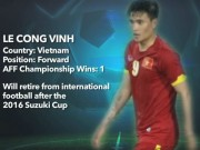 Bóng đá - AFF Cup tri ân, gọi Công Vinh là huyền thoại bóng đá Việt Nam