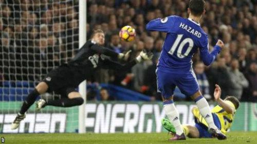 Hazard 5 bàn/4 trận: Chelsea mơ vô địch - 1