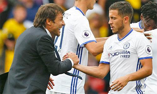 Hazard 5 bàn/4 trận: Chelsea mơ vô địch - 2