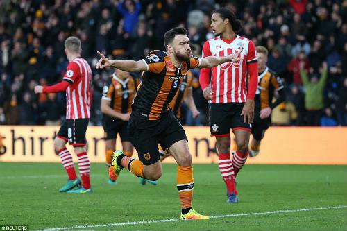 Hull City - Southampton: Ngược dòng trong 2 phút - 1